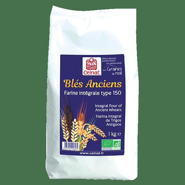 Farine intégrale de blés anciens T150