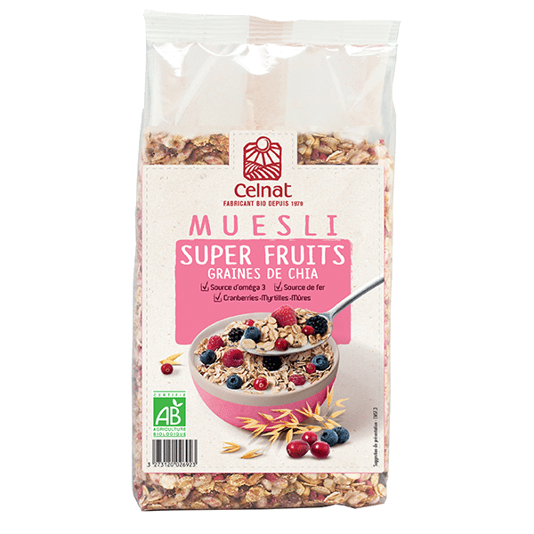 Muesli Super Fruits et Graines de Chia