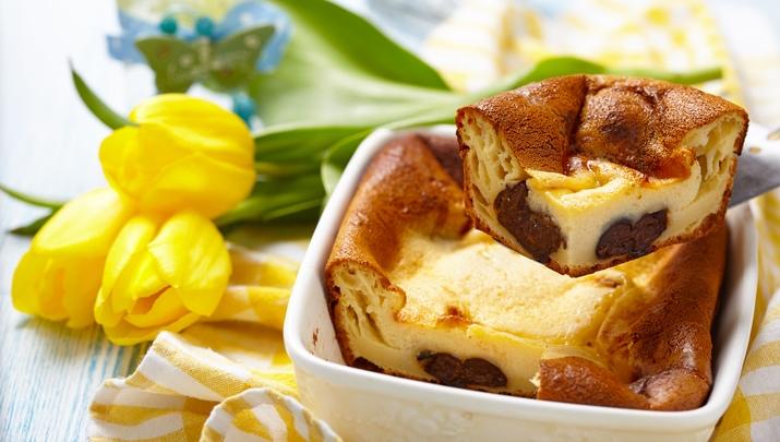 Far aux pruneaux à la crème de sarrasin