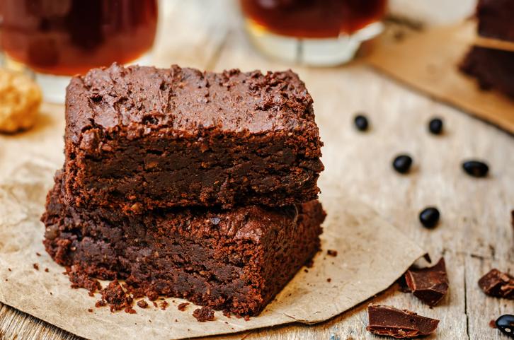 Brownies aux graines de lin doré