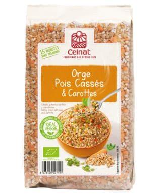Mélange veggie – Orge, pois cassés & carottes
