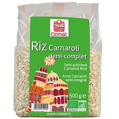 Riz long Carnaroli demi-complet