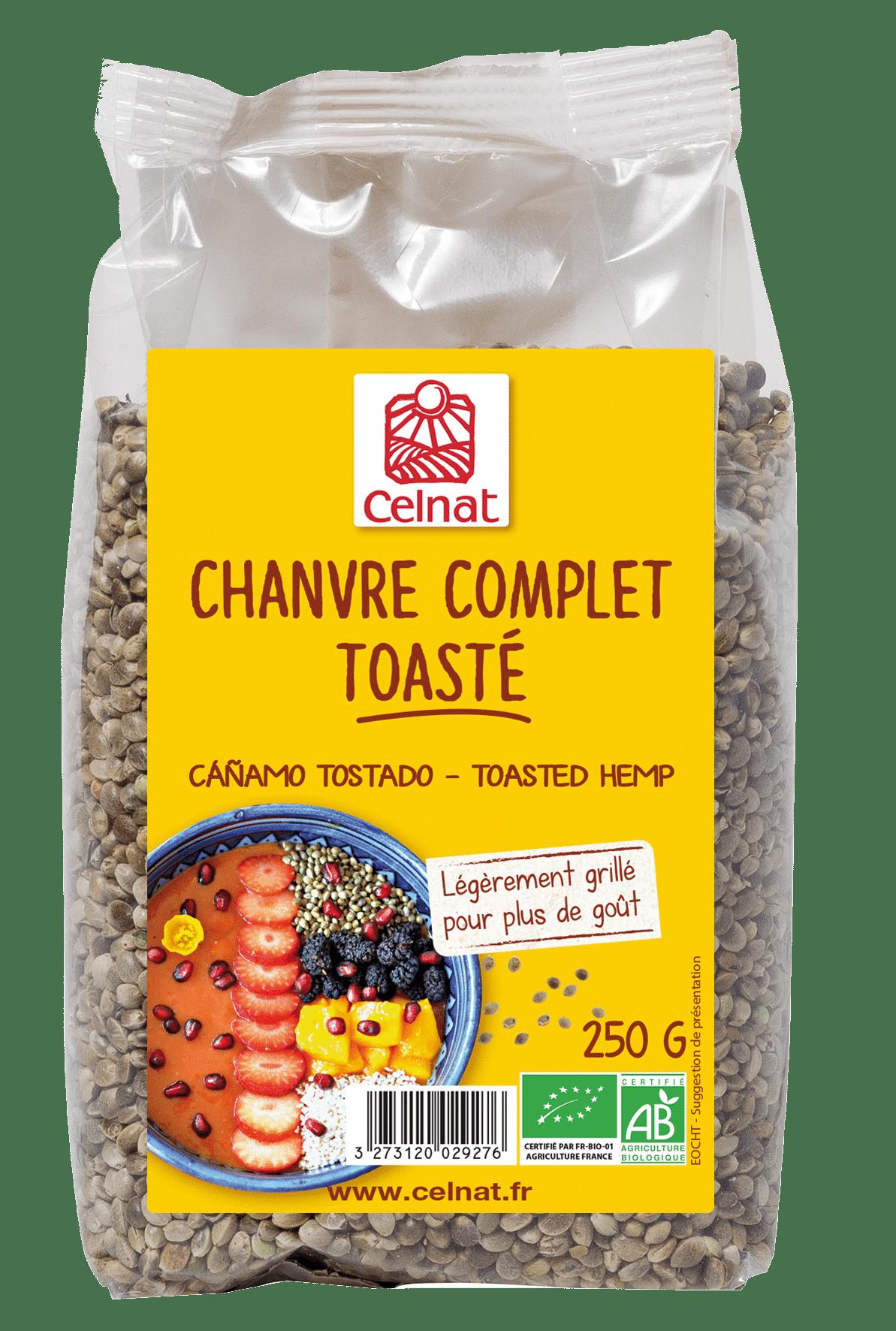 Graines de chanvre toastées