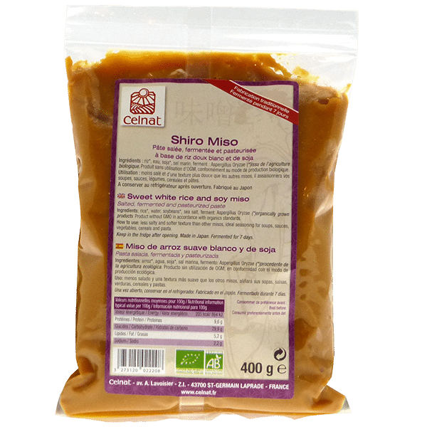Shiro Miso (soja et riz – fermentation courte)