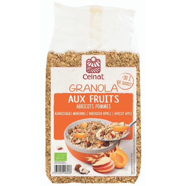 Granola aux fruits – Abricots, pommes et noisettes