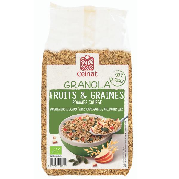 Granola Fruits & Graines – Pommes et courge