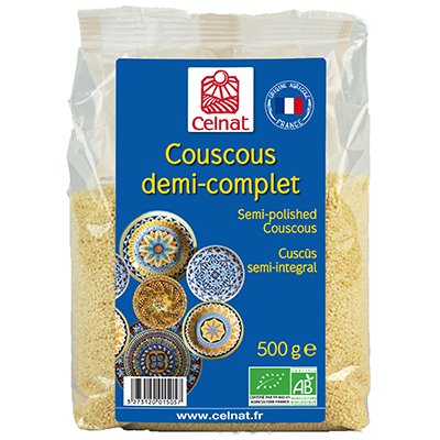 Semi-polished couscous