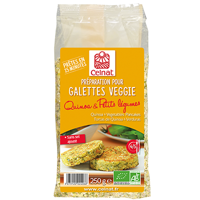 Galettines Quinoa et Petits Légumes