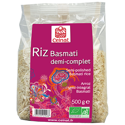 Semi-polished Basmati long grain rice