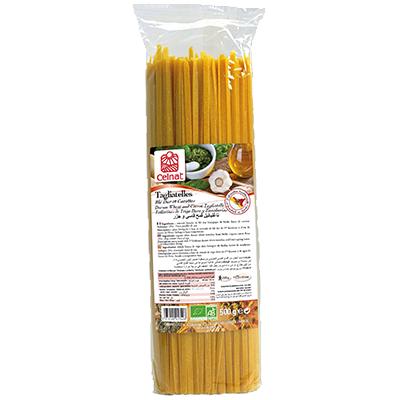 Tagliatelles blé dur et carottes