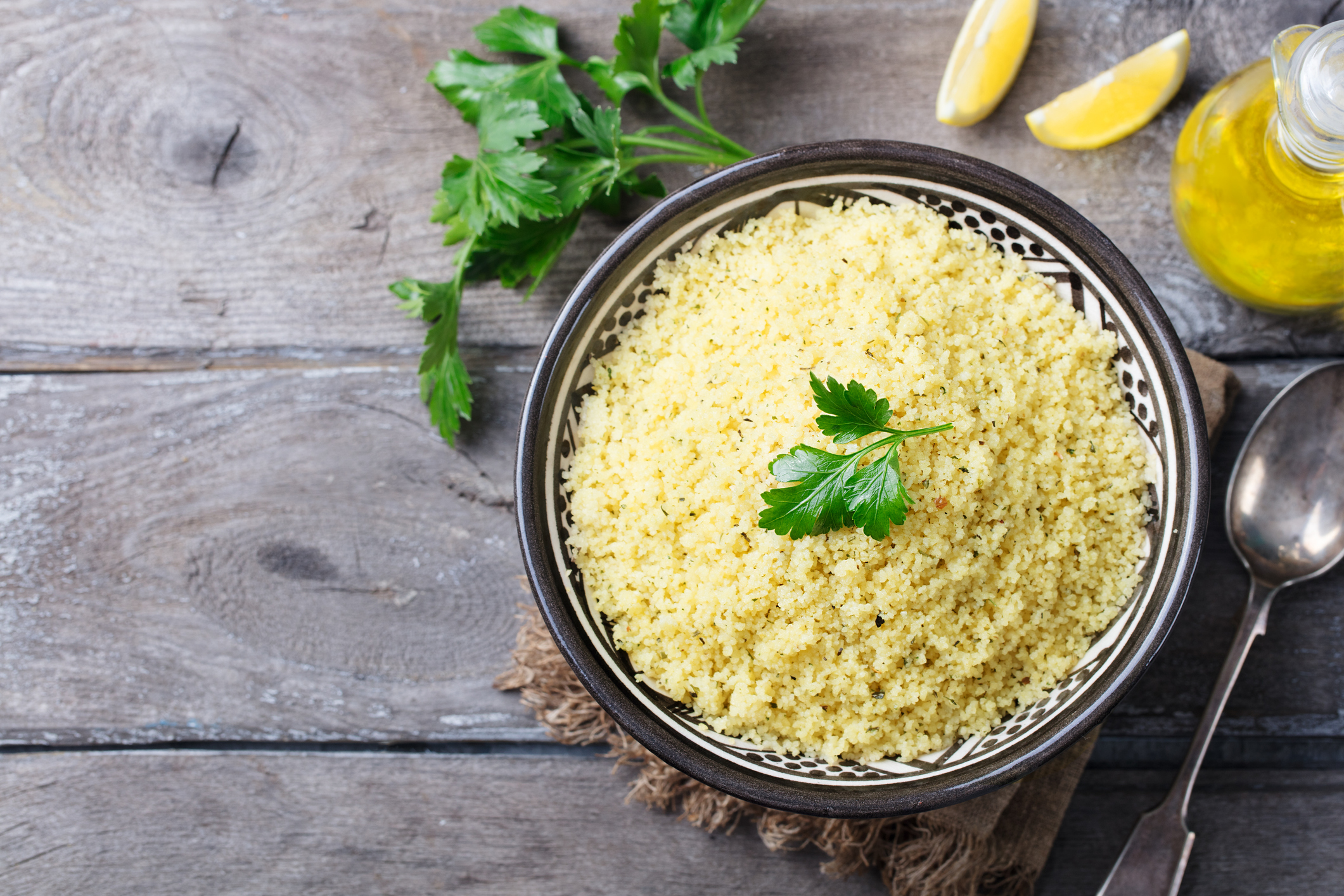 Boulgour (blé dur) en salade au citron