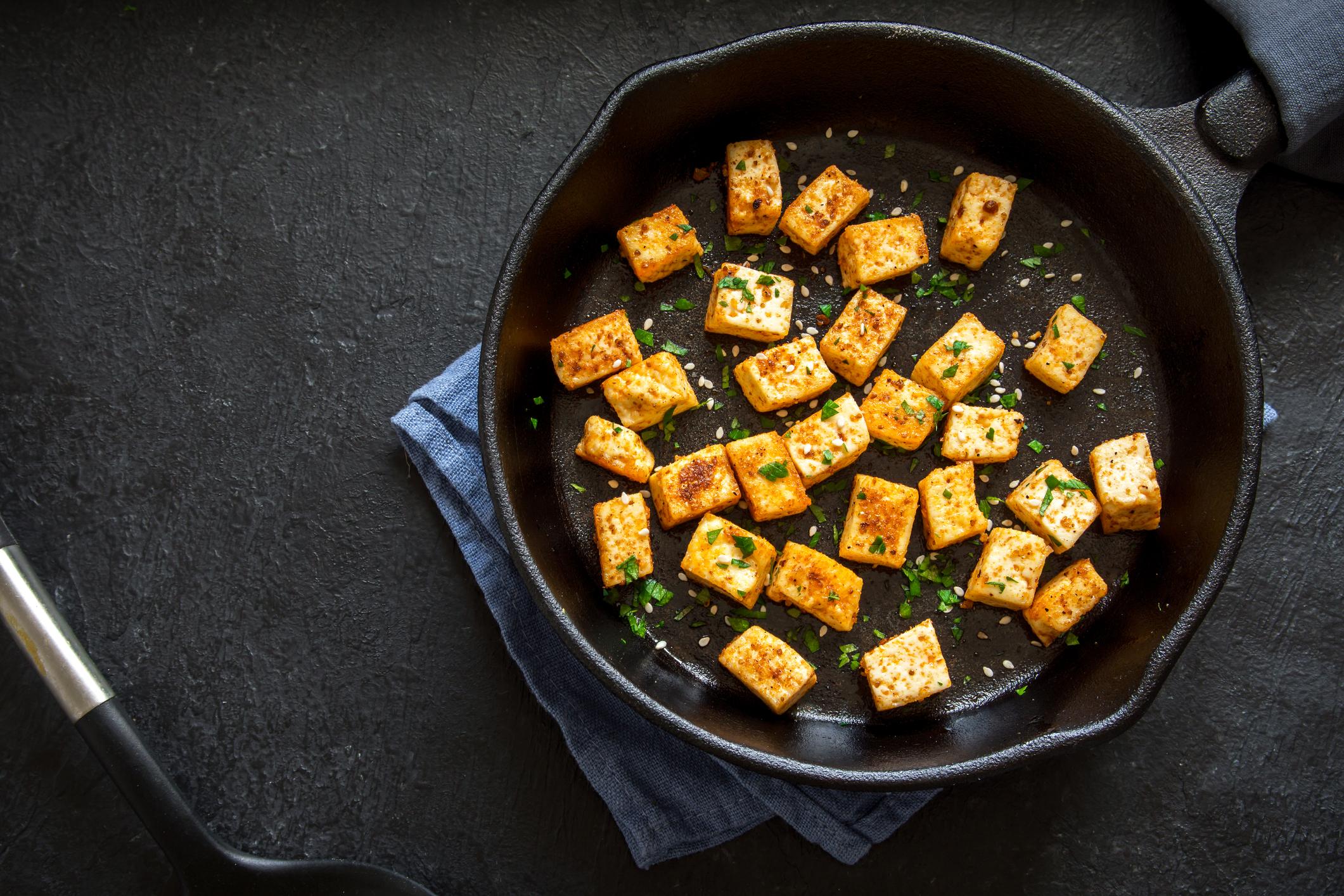 Tofu en croûte de sésame toasté
