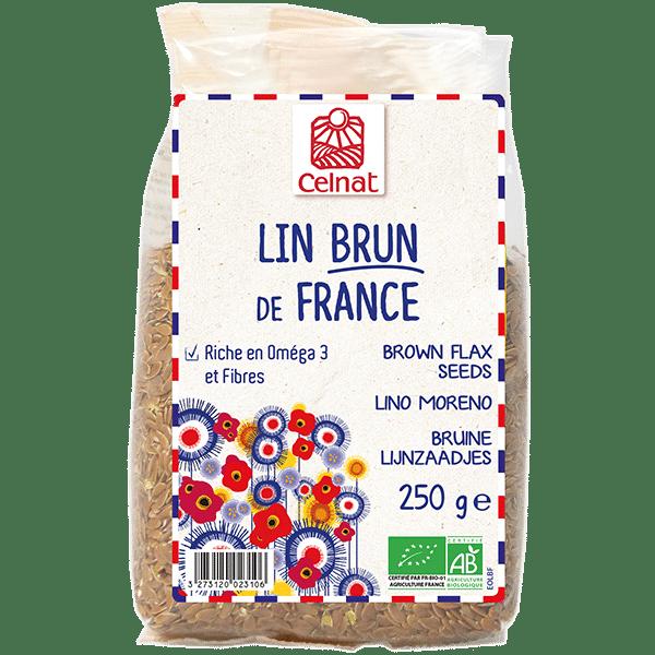 Graines de lin brun de France