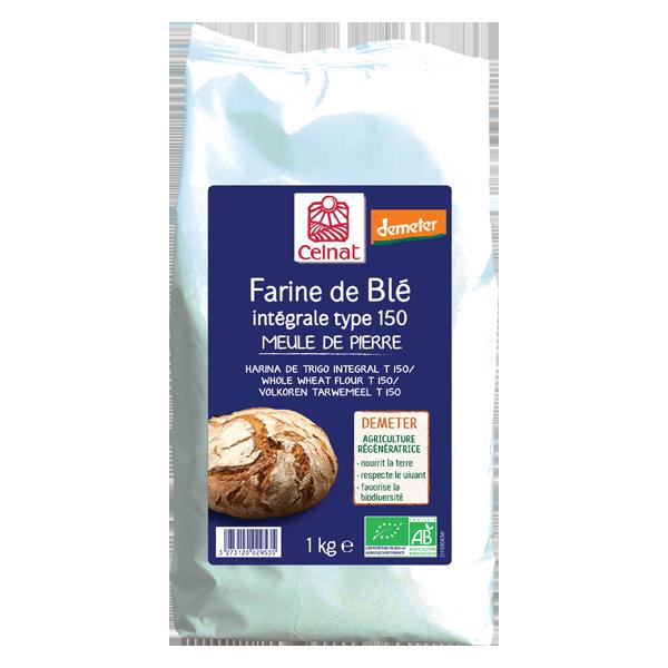 Farine de blé intégrale T150 Demeter