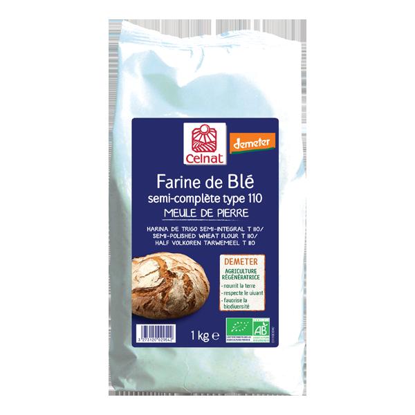 Farine de blé semi-complète T110 Demeter