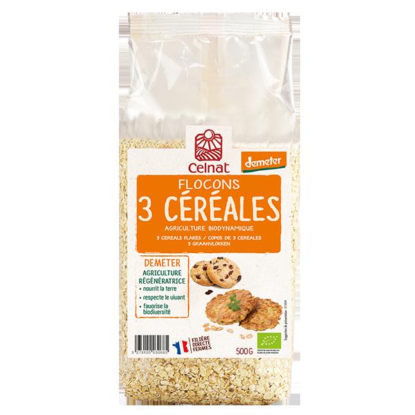 Flocons 3 céréales Demeter
