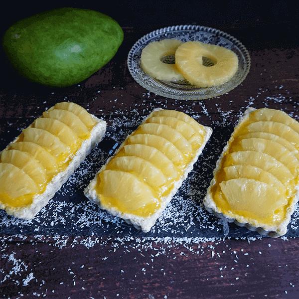 Les recettes de Loulou : Tartelettes coco, mangue & ananas