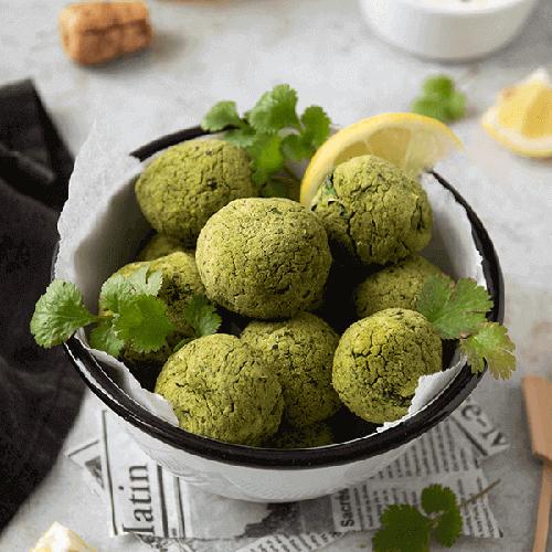 Les recettes d'Angie : Falafels au kale