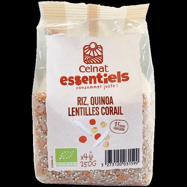 Riz quinoa lentilles